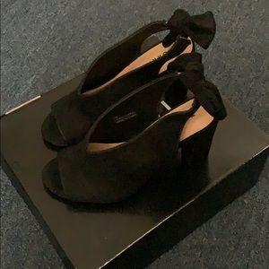 Torrid black suede heels